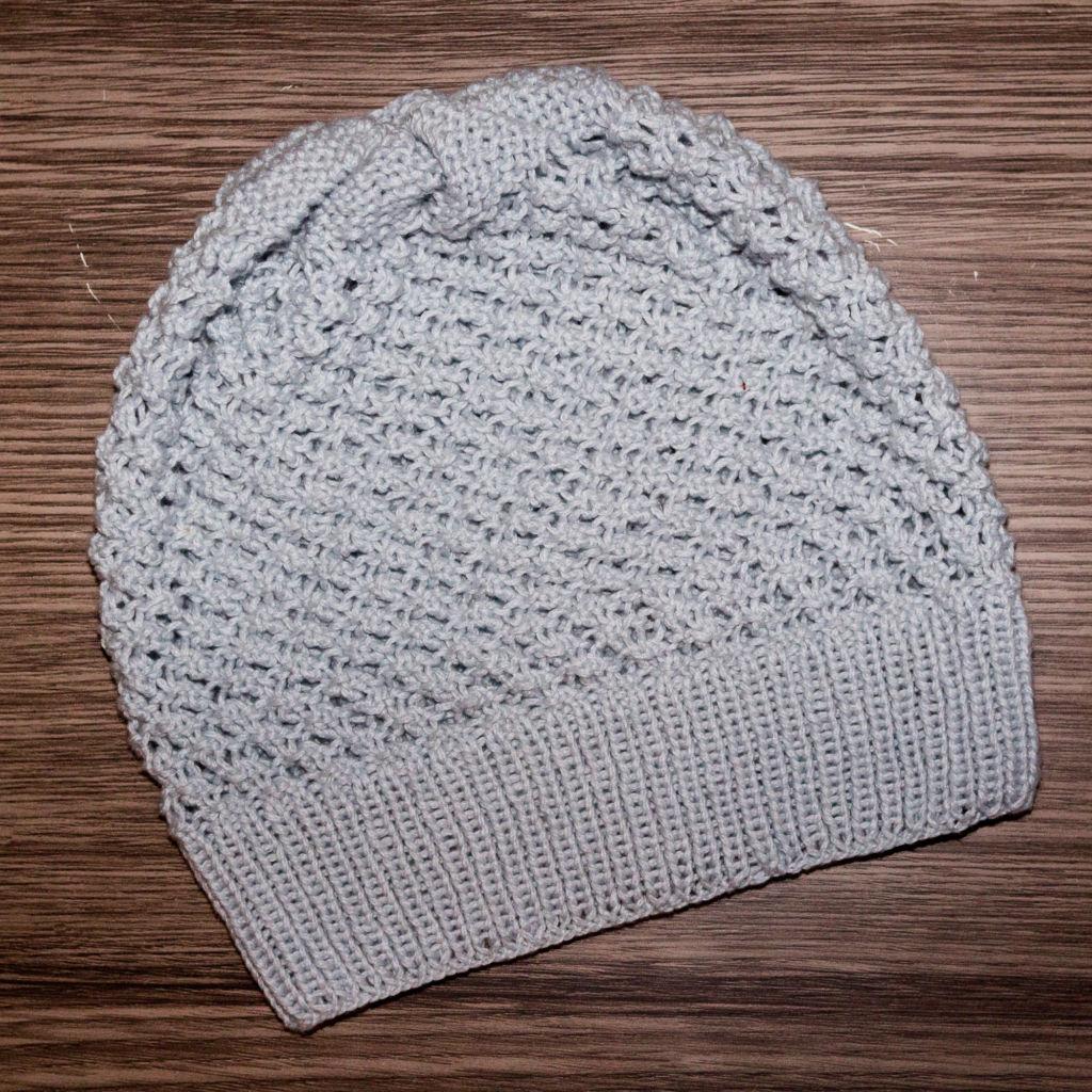 Die fertige Mütze im Persianermuster