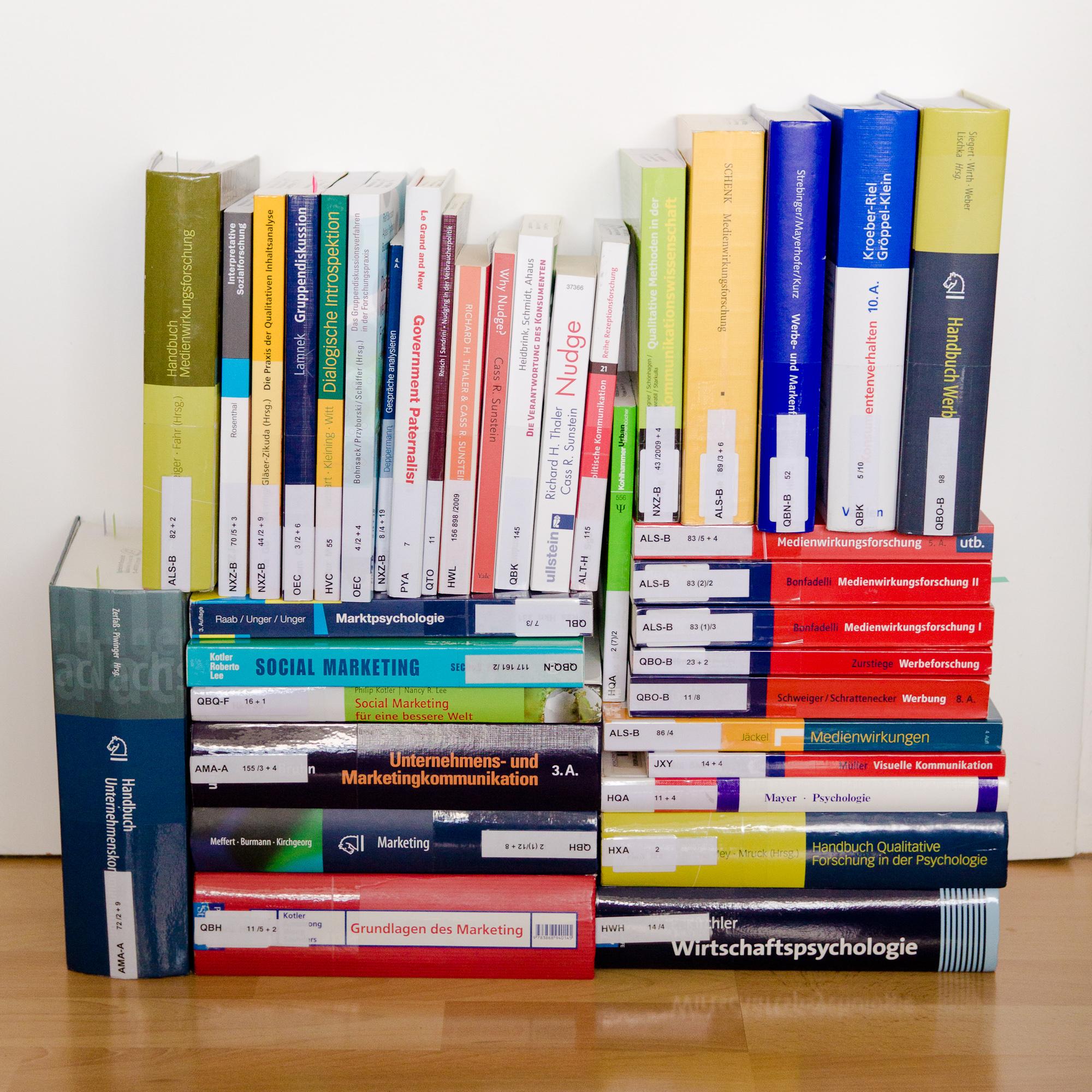 Literatur für die Masterarbeit