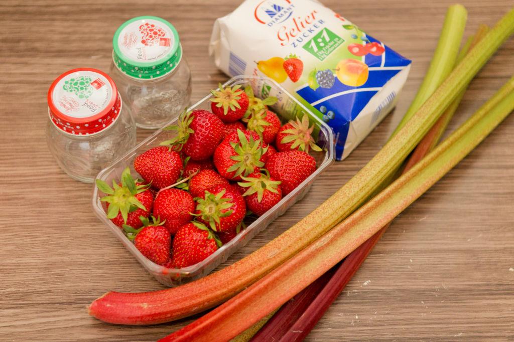Rhabarber-Erdbeer-Marmelade Zutaten