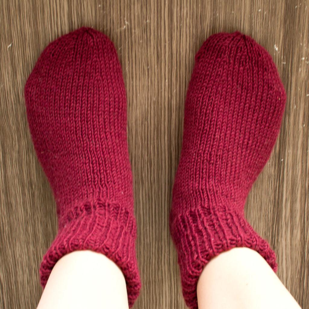 Erste Socken Draufsicht