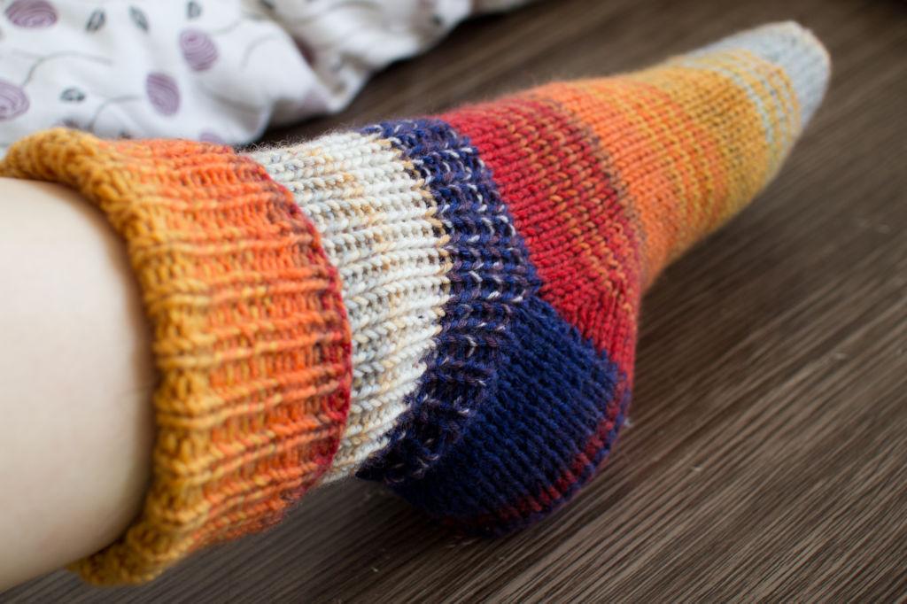 Das zweite Sockenpaar - Seitenansicht