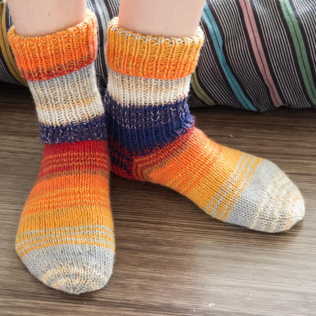 Das zweite Sockenpaar - Vordersicht