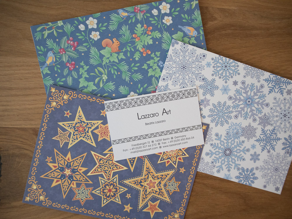 Diese Postkarten von Lazzaro Art gibt es in keinem Onlineshop zu kaufen.