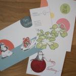 Es gab so viele schöne Postkarten: Hier von dem Label MsSlow.