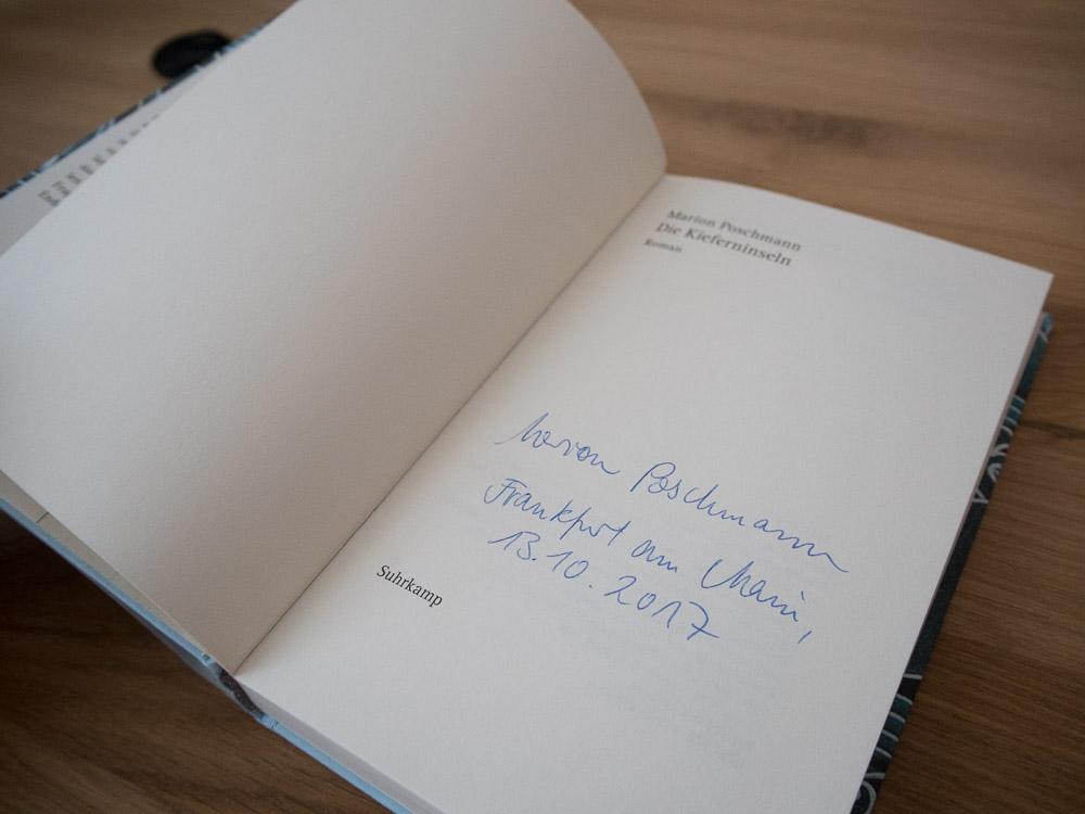 Autogramm von Marion Poschmann.