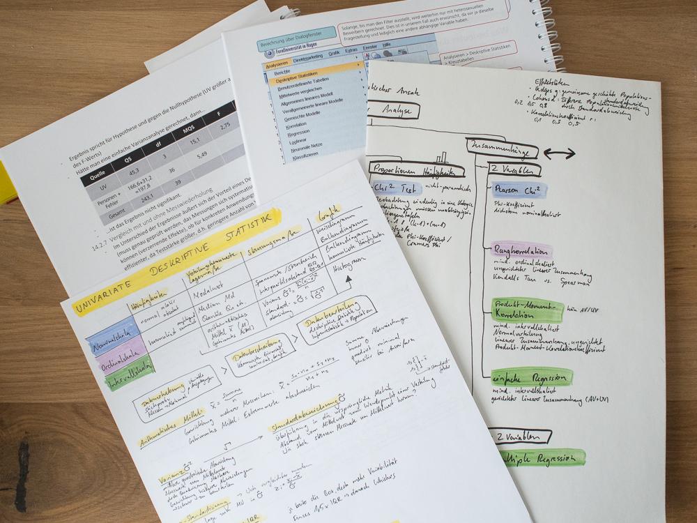 Meine Notizen im Studium